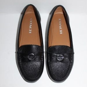 Coach Penny Loafers Women size 6 B Pebbled leather